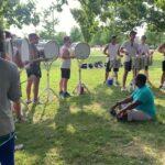 Bluecoats 2021 Drumline: Move-Ins Warmup