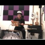 Driving While Blind ZZ Top on 3 String Cigar Box Guitar kick drum high hat Headrush  one man band